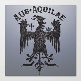 Vintage Illustration Alis Aquilae On Eagles Wings Latin Old School Art Canvas Print