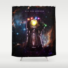 War is arrived Shower Curtain