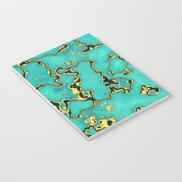 GOLD TURQUOISE Notebook