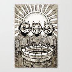 Three Little Pigs Canvas Print
