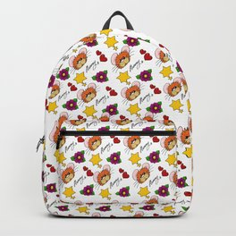 Hammy Pattern in White Backpack