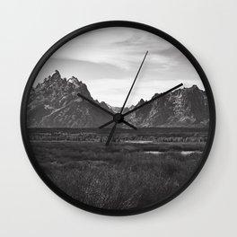 Dark Mountains Wall Clock
