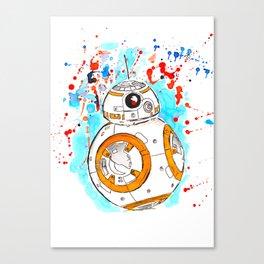 BB8 Ink Splatter Canvas Print