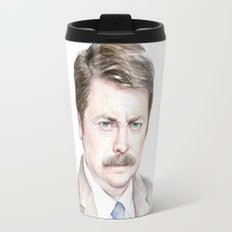 Swanson Watercolor Ron Travel Mug