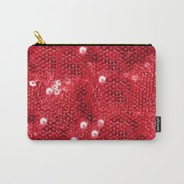 Faux Red Sequin Background Carry-All Pouch