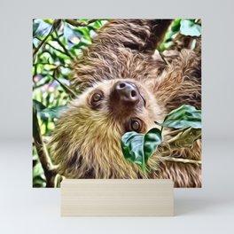 Painted Sloth Mini Art Print