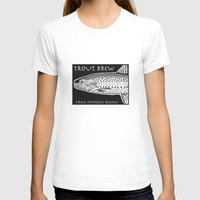 trout T-shirts featuring Trout Brew by Craig Petersen
