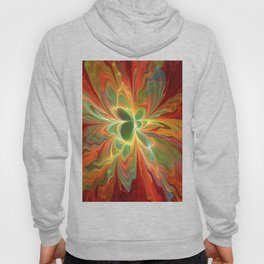With a lot of Red, Abstract Art Hoody