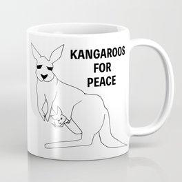 Kangaroos for Peace Coffee Mug