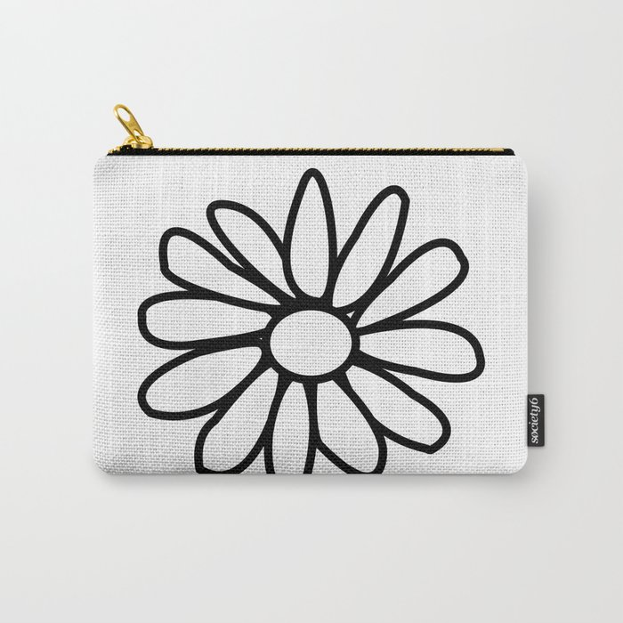 Imperfect Daisy Outline Carry-All Pouch
