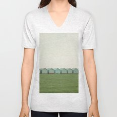 Beach Huts Unisex V-Neck