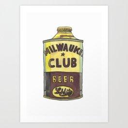 Vintage Beer 1 Art Print