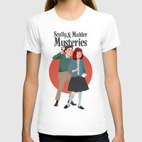 mulder T-shirts featuring Scully and Mulder Mystery Stories  by Celeste Pille