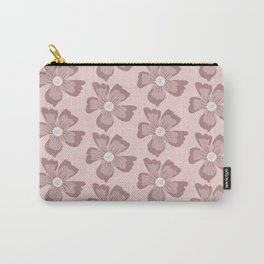 Pretty Pink Flowers Carry-All Pouch