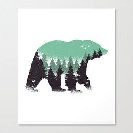 Bear Landscape Canvas Print