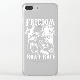 Freedom Or Death Road Race Clear iPhone Case