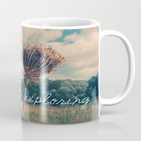 never stop exploring Mugs featuring Never Stop Exploring II by Sandra Arduini