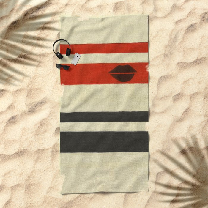 The Lady Vanishes Beach Towel
