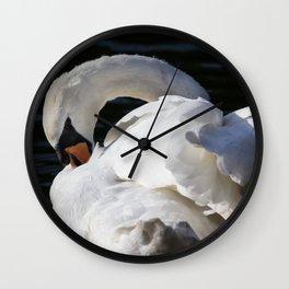 Peaceful Swan Wall Clock