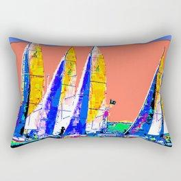 Yachts Racing Rectangular Pillow