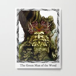 Green Man of the Wood Poster Version Metal Print