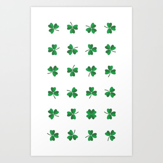 find a lucky clover! Art Print