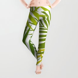 Palm leaf silhouettes seamless pattern. Tropical leaves. Leggings