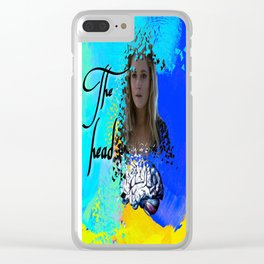 Clarke: the head Clear iPhone Case