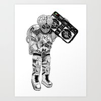 this planet earth in stereo Art Print