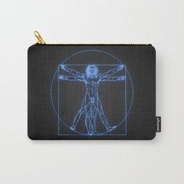 Neon Vitruvian Man Carry-All Pouch