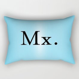 Mx. in Blue Rectangular Pillow