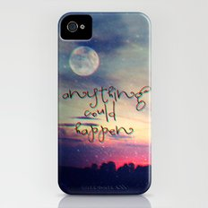 Anything could happen iPhone (4, 4s) Slim Case