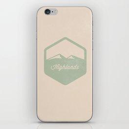 Highlands iPhone Skin
