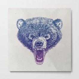 Bear me roar Metal Print