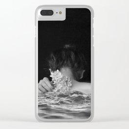 Flower and sea Clear iPhone Case