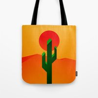 desert Tote Bags featuring Desert by Bakus