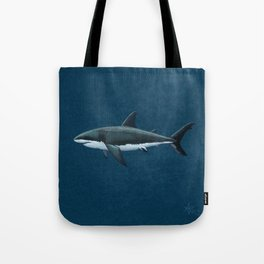 """""""Carcharodon carcharias"""" by Amber Marine  ~ Great White Shark Art, (Copyright 2015) Tote Bag"""