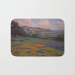 Poppies & Lupine Near Santa Paula, California by John Marshall Gamble Bath Mat