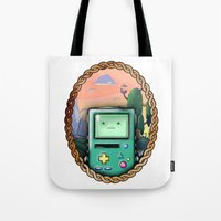 bmo Tote Bags featuring BMO!! by SempiternalILLUSTRATIONS