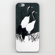 Japanese Cranes / Sayuri iPhone Skin