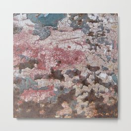 Cracking Paint and Rust Abstract Metal Print