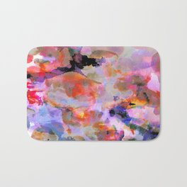 Blushed Abstract  Bath Mat