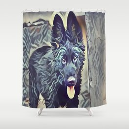 The Belgian Shepherd Shower Curtain