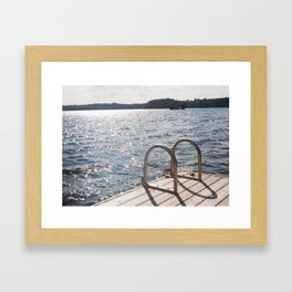 Small Waves Framed Art Print