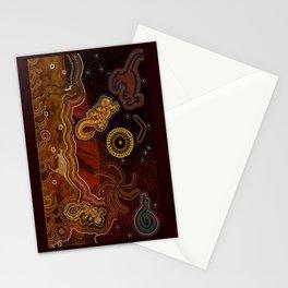 Desert Heat - Australian Aboriginal Art Theme Stationery Cards