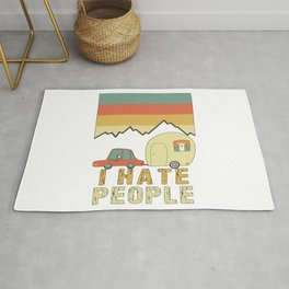 I Hate People Sloth & Llama Go Camping Rug