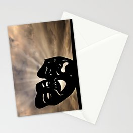 The masks of the theater signify comedy and tragedy, happiness and sadness, Pathos. Stationery Cards