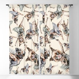 Hipster Ballerinas - Dog Cat Dancers Blackout Curtain
