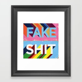 FAKE SHIT Framed Art Print