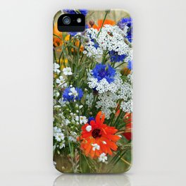 #colorful #Wildflowers in a #summer #meadow #homedecors iPhone Case